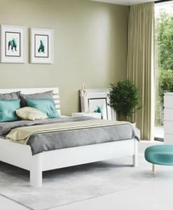GIULIA I, moření na bílo - čalouněná postel s úložným prostorem