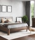Dřevěná postel s úložným prostorem Giulia I