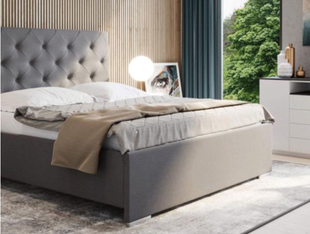 Čalouněná postel s úložným prostorem Elisa II