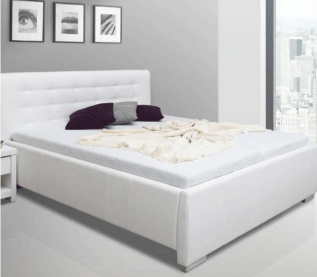 Čalouněná postel s úložným prostorem Zoe